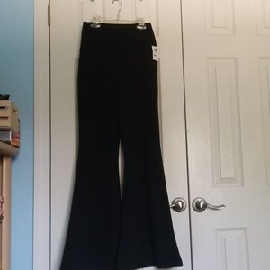 NWT Charlotte Russe Black Bell Bottoms